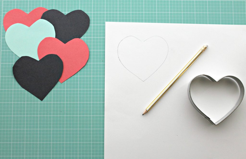DIY Heart Wall Step 1