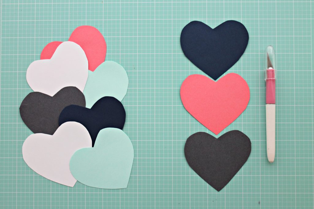 DIY Heart Wall Step 2