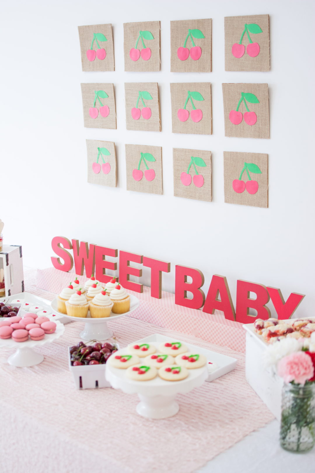 Cherry Baby Shower | Cherry Party | Dessert Table