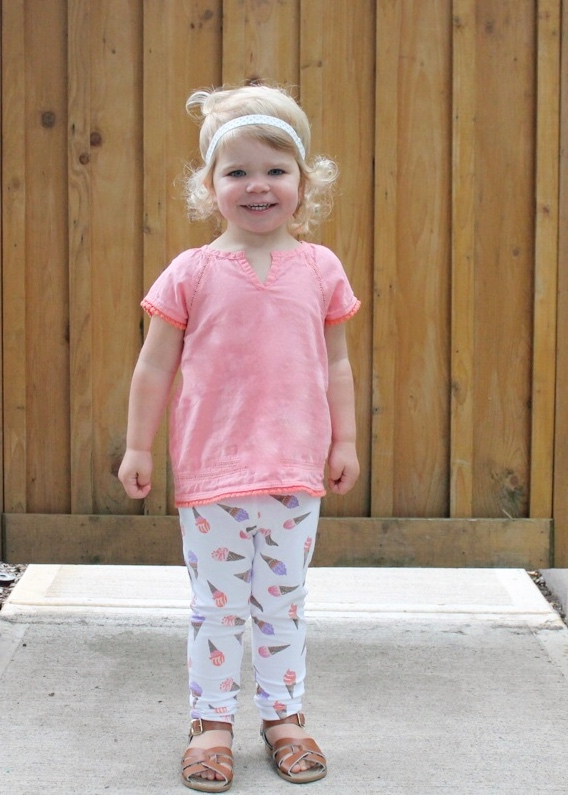 Ice Cream Fashion: Toddler Leggings