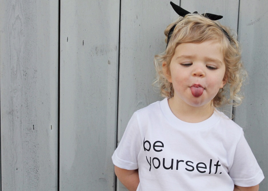 "Monochrome Kids Fashion | Black and White Kids Fashion | ""Be Yourself"" Kids T-shirt 