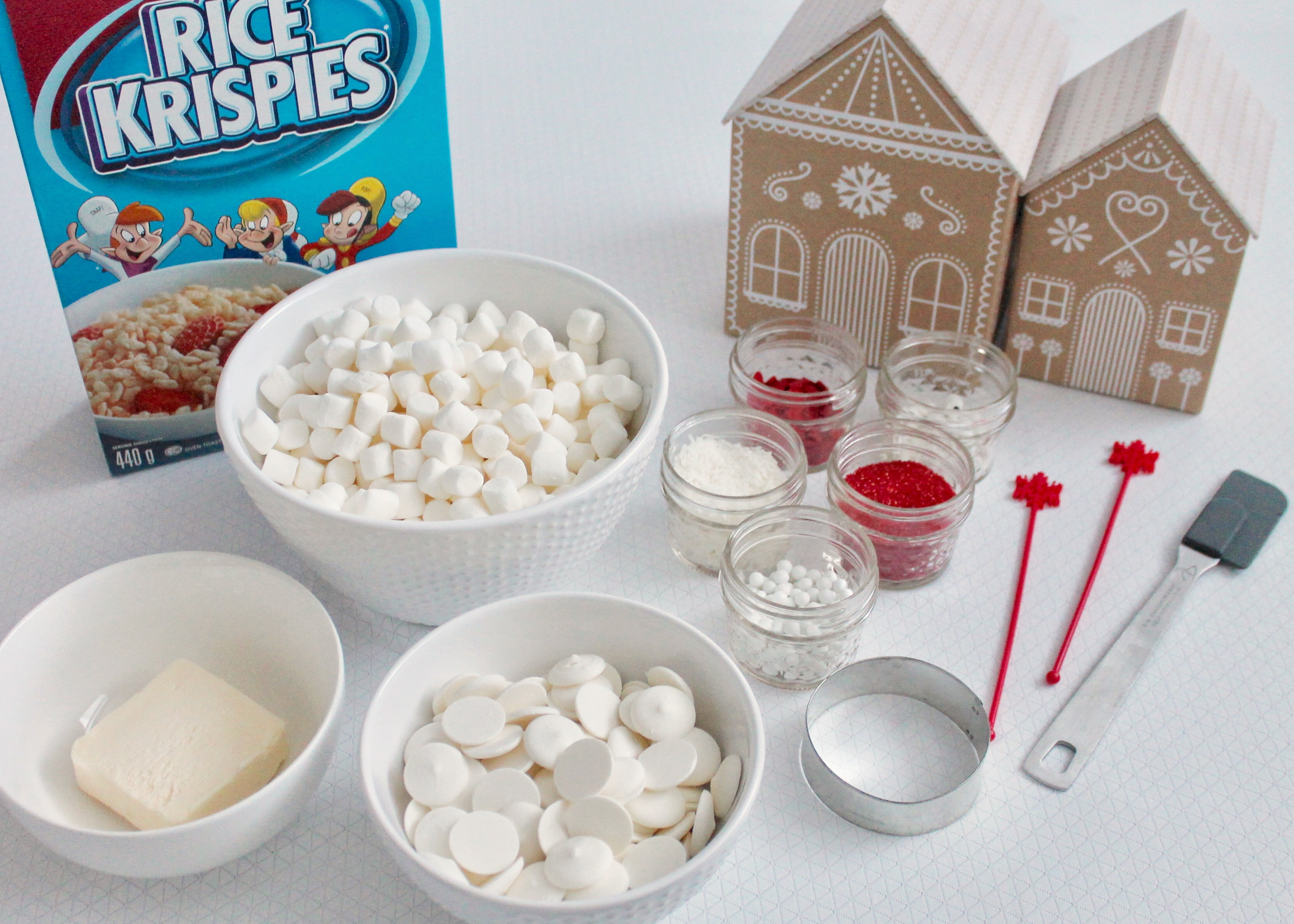 DIY Santa Treats | Christmas Treat Recipe | Santa Rice Krispies | Holiday Rice Krispie Treats