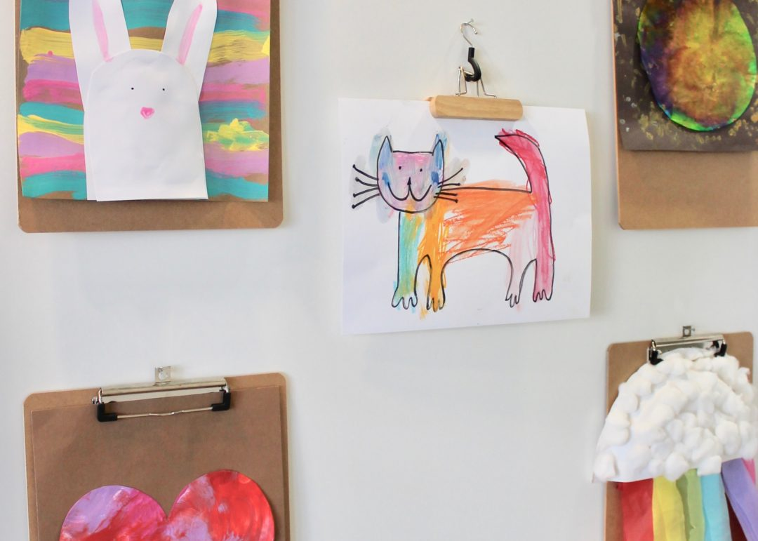 Dollar Store Kids Art Wall | Kids Art Display | DIY Gallery Wall