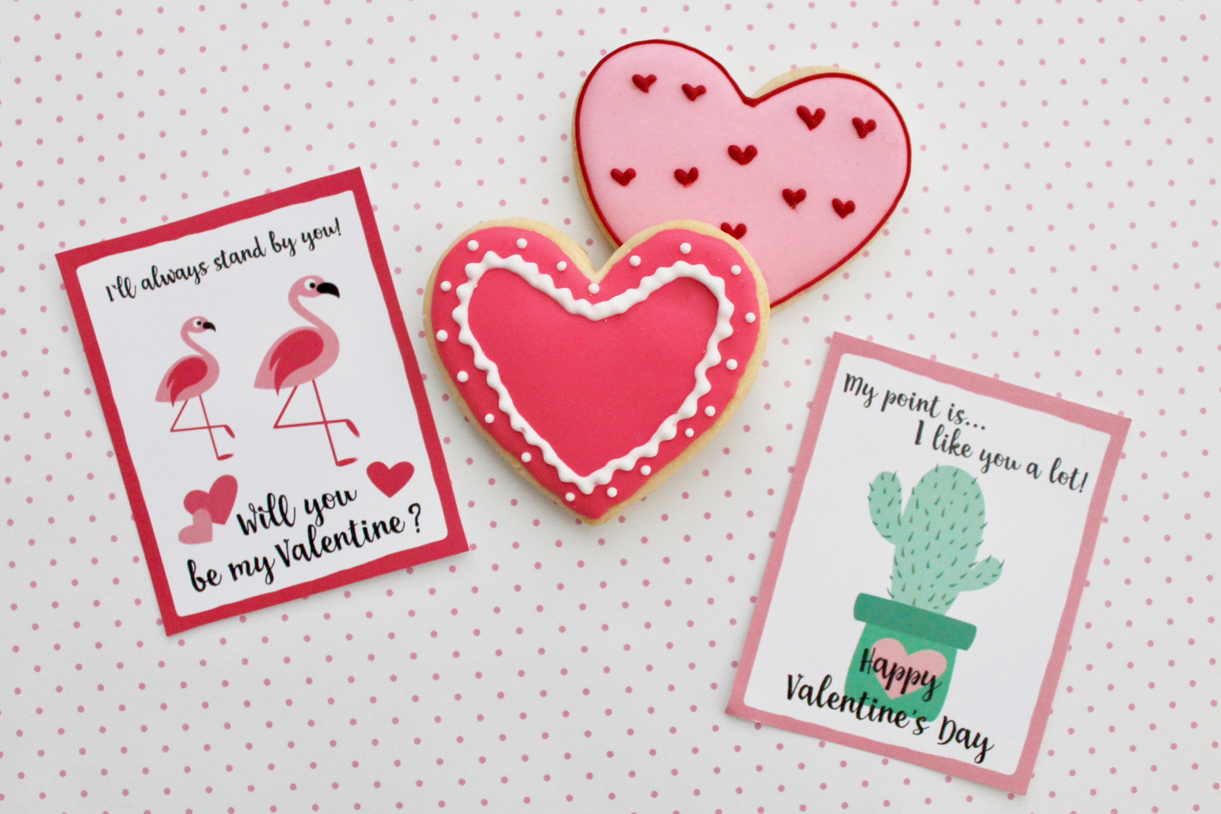 Free Valentine Printable | Valentine Day Cards for Kids | Swan Valentine | Cactus Valentine | Flamingo Valentine | Free Valentines for Kids