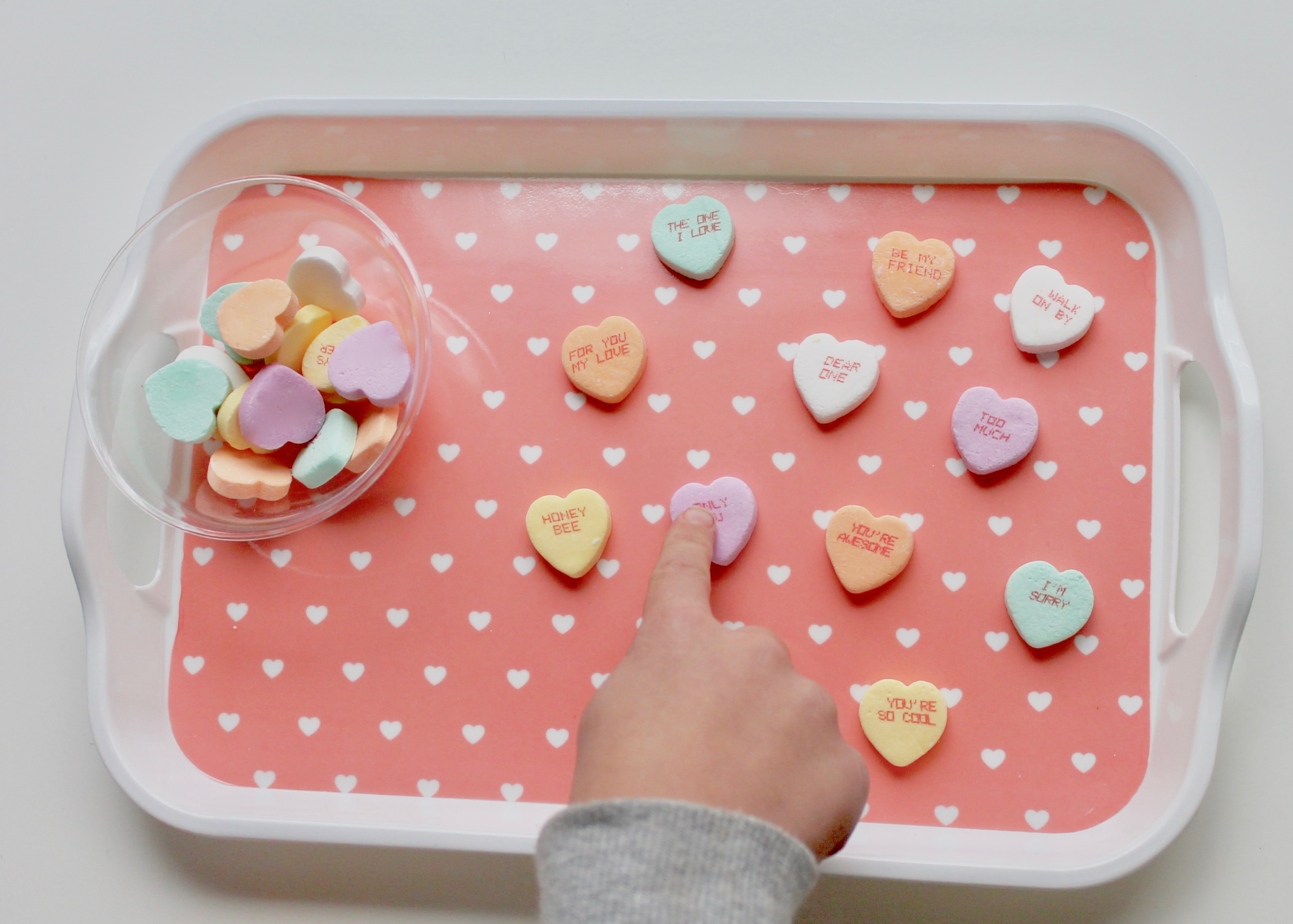 Conversation Hearts | Kids Heart Activities | Easy Activities for Kids | Valentine's Day with Kids | Learning with Conversation Hearts