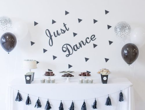 Just Dance Birthday | Black and White Birthday Party | Monochrome Dessert Table | Three Year Old Birthday Party