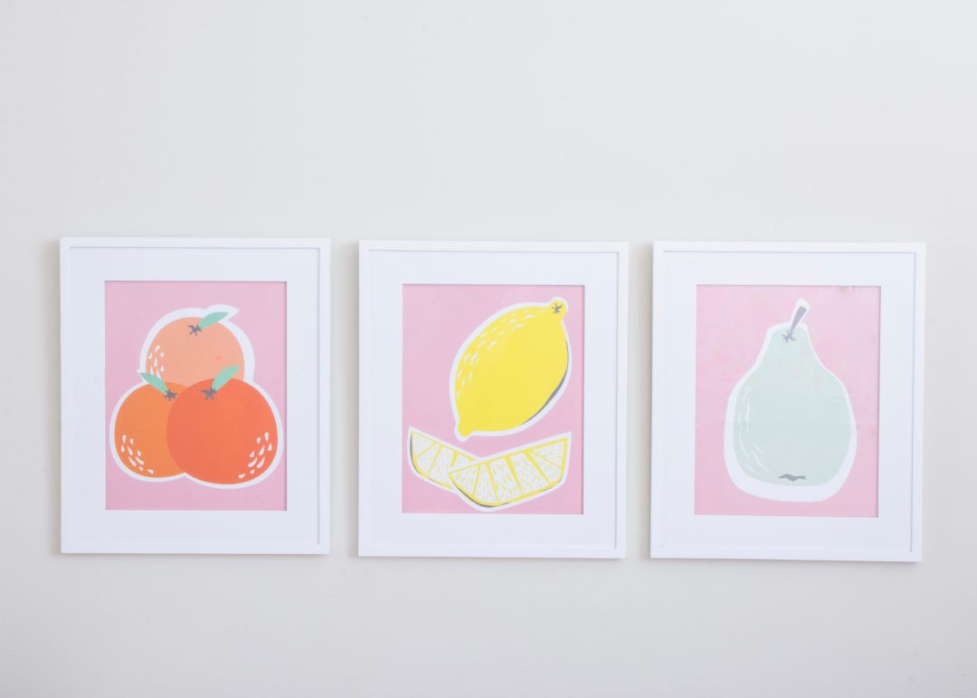 Free Fruit Pastel Printables | Lemon Printable | Pear Printable | Orange Printable