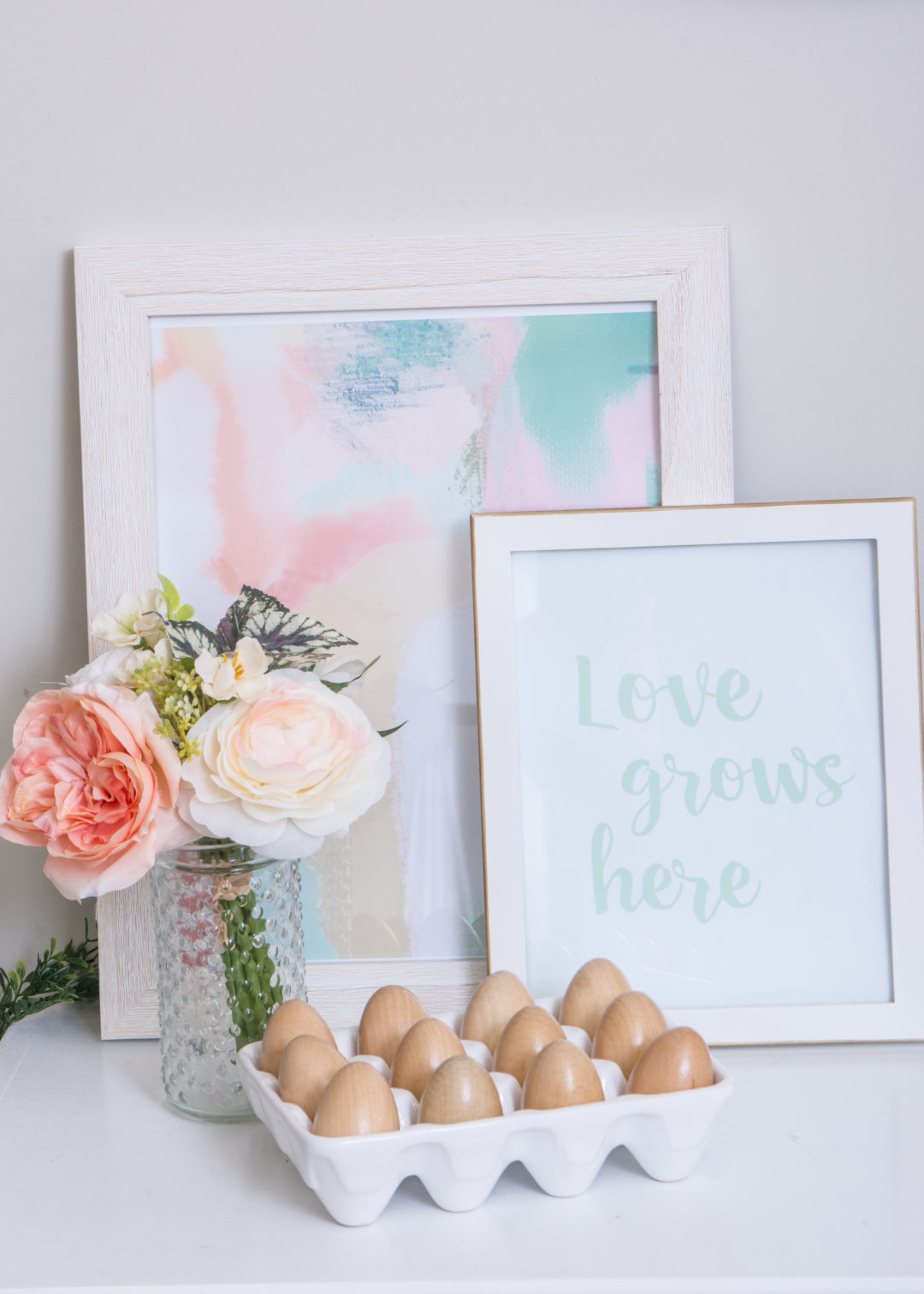 Love Grow Here Print | Spring Mantel | Free Printable
