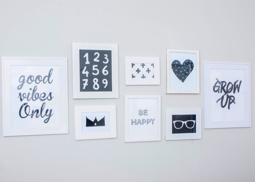 "Free ""Be Happy"" Printable, perfect for playroom or kids room"