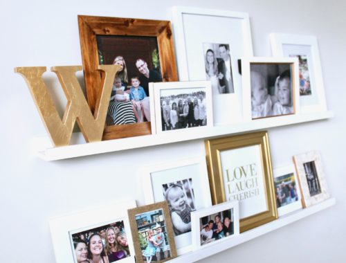 DIY Simple Family Gallery Photo Wall