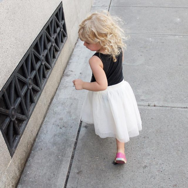 Someone was channeling her inner Carrie Bradshaw visiting dad downtownhellip
