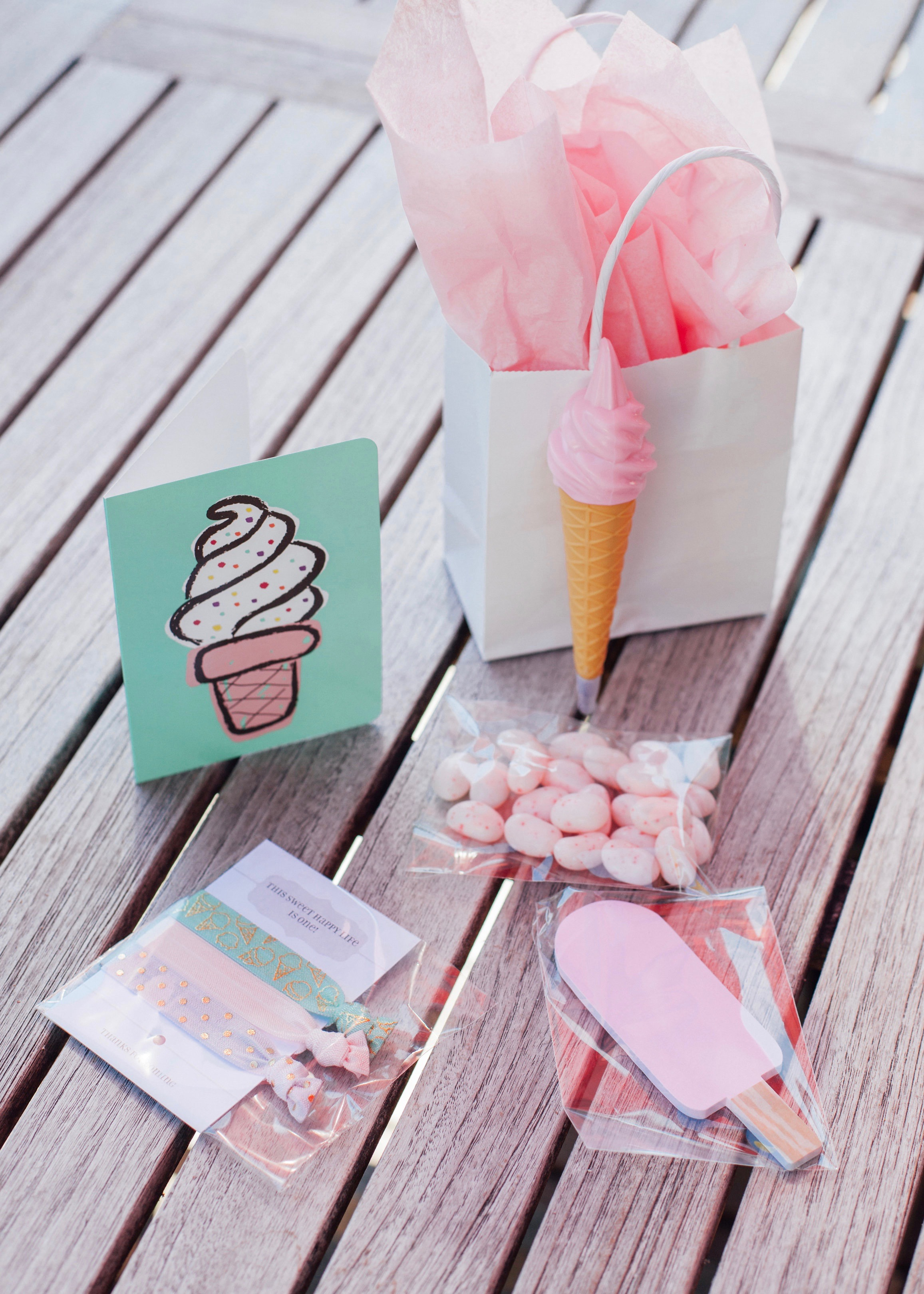 Treat Yo Self Ice Cream Social | Goody Bags