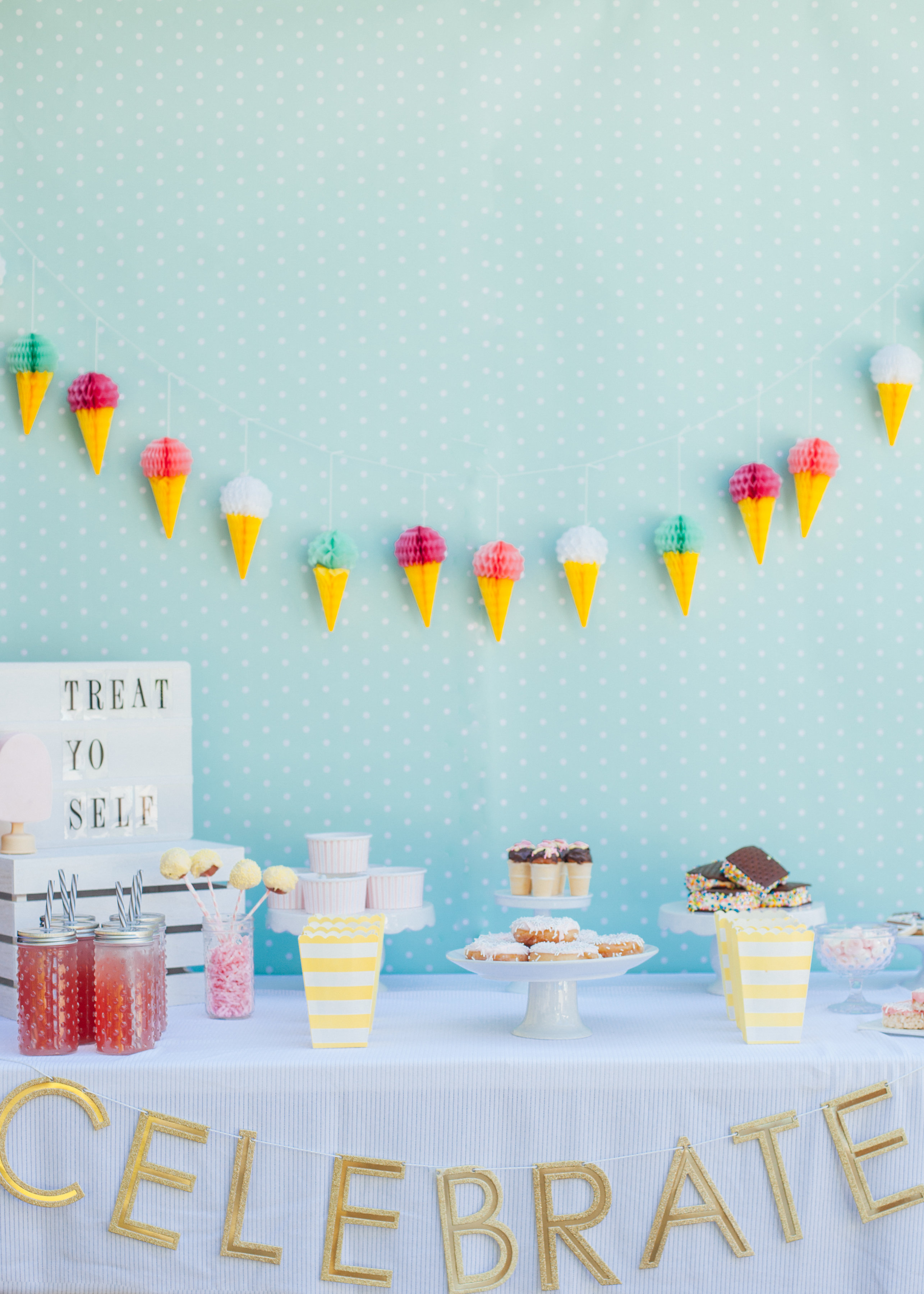 Treat Yo Self Ice Cream Social | Dessert Table