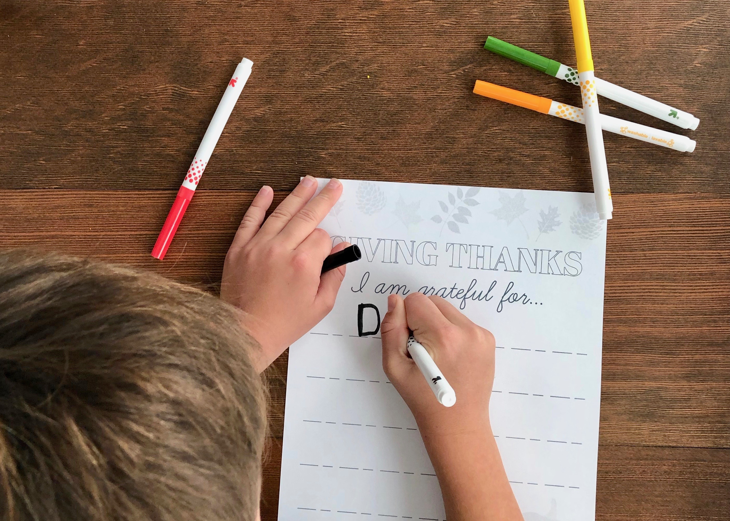 "Thanksgiving ""I Am Grateful For"" - Free Printable for Kids"