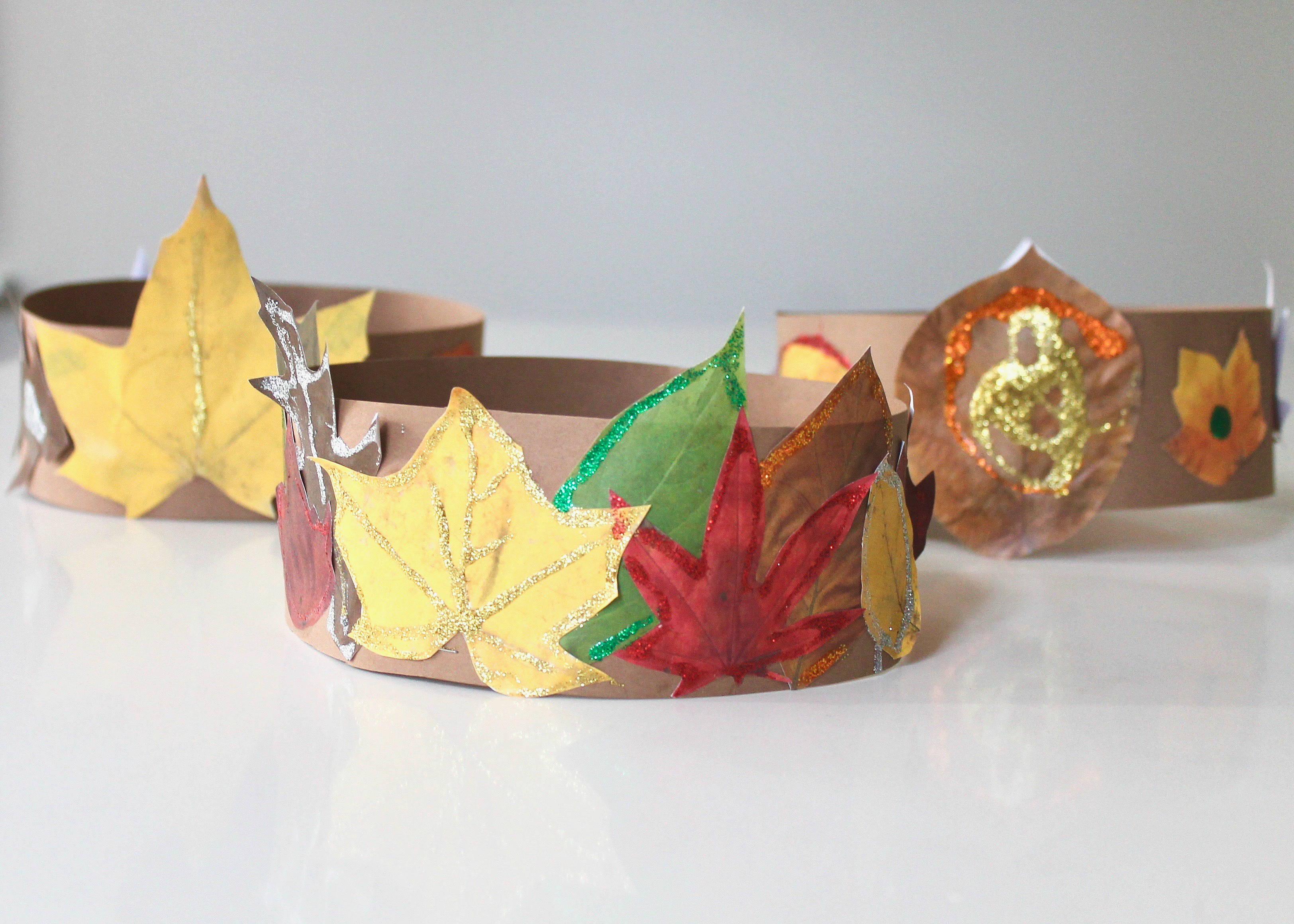 DIY Leaf Crown | Leaf Craft | Fall Craft Idea | Thanksgiving Craft | Thanksgiving Kids Activity