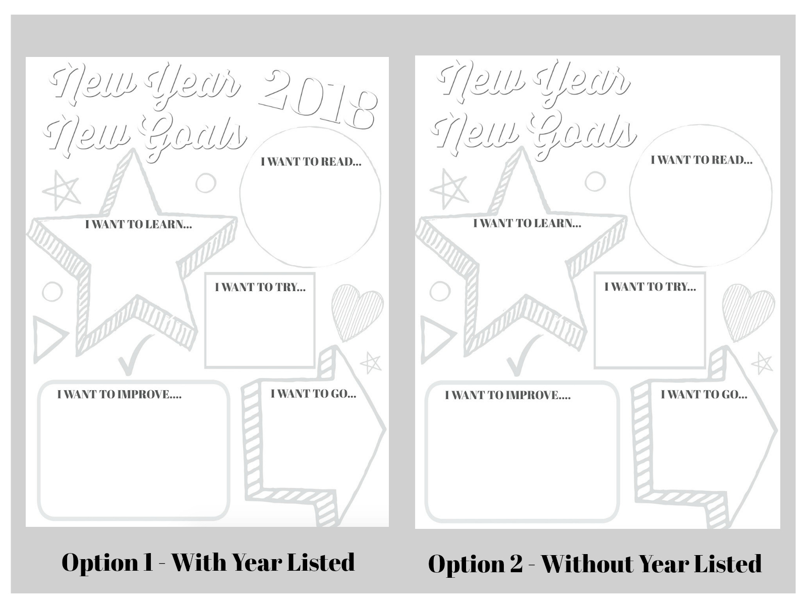 Kids New Years Printable | Free Printable | Printable for Kids | Goal Setting Printable | Goal Digger