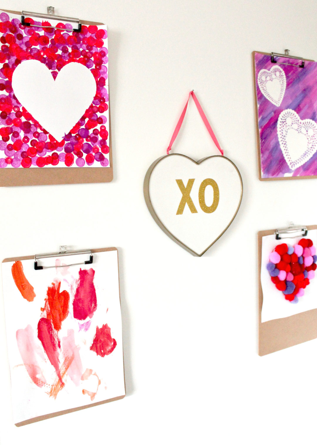 DIY Heart Crafts | Valentines Day Activities for Kids | Valentines Day Crafts | Mix Media Art for Kids | Children's Arts and Crafts | Toddler Art Activity