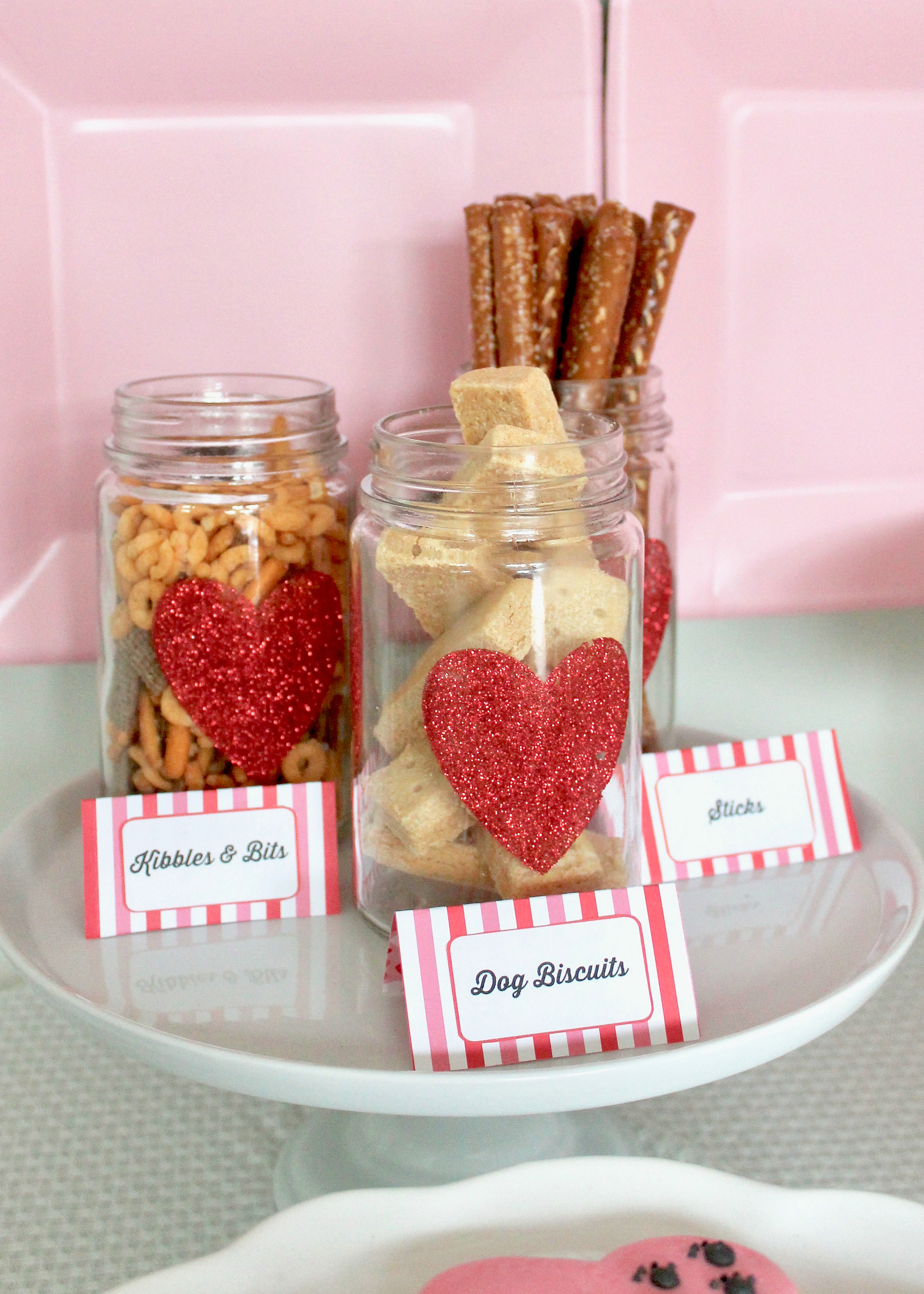 Valentine's Day Dessert Table | Dessert Table Decor | Kids Valentine's Day Party | Dog Pawty | Puppy Party | Girls Party Inspiration | Pink and Red Party | Puppy Love