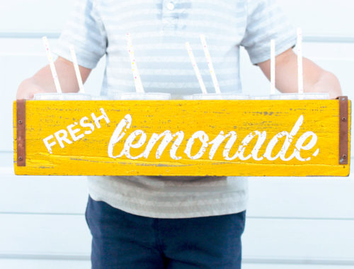 Kid's Lemonade Stand | Charity Lemonade Stand | Summer Activities with Kids | Sparkling Lemonade | Lemon Square